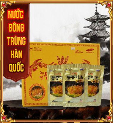 Nước đông trùng hạ thảo dạng chai, gói tiện lợi, hấp thụ tốt